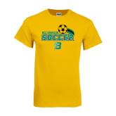 Gold T Shirt-Soccer Swoosh