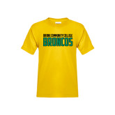 Youth Gold T Shirt-Bronx Community College Bronocs