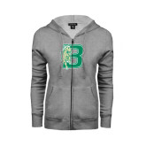 ENZA Ladies Grey Fleece Full Zip Hoodie-Bronoc