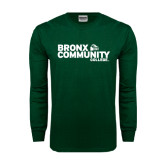 Dark Green Long Sleeve T Shirt-Official Logo