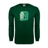 Dark Green Long Sleeve T Shirt-Bronoc