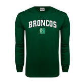 Dark Green Long Sleeve T Shirt-Arched Broncos