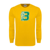 Gold Long Sleeve T Shirt-Bronoc