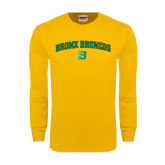 Gold Long Sleeve T Shirt-Bronox Broncos