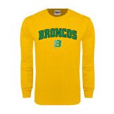 Gold Long Sleeve T Shirt-Arched Broncos