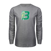 Grey Long Sleeve T Shirt-Bronoc