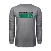 Grey Long Sleeve T Shirt-Bronx Community College Bronocs