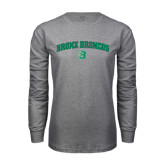Grey Long Sleeve T Shirt-Bronox Broncos