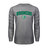 Grey Long Sleeve T Shirt-Arched Broncos
