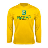 Performance Gold Longsleeve Shirt-Volleyball Design