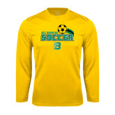Performance Gold Longsleeve Shirt-Soccer Swoosh
