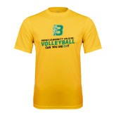 Performance Gold Tee-Volleyball Design
