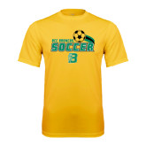 Performance Gold Tee-Soccer Swoosh