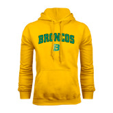 Gold Fleece Hoodie-Arched Broncos
