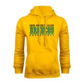 Gold Fleece Hoodie-Stacked Basketball Design