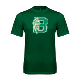 Performance Dark Green Tee-Bronoc
