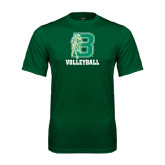 Performance Dark Green Tee-Volleyball