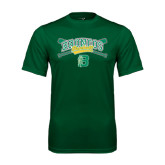 Performance Dark Green Tee-Cross Bats Design