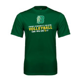 Performance Dark Green Tee-Volleyball Design