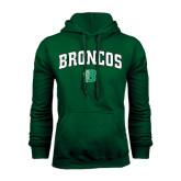 Dark Green Fleece Hood-Arched Broncos