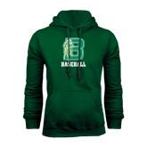 Dark Green Fleece Hood-Baseball