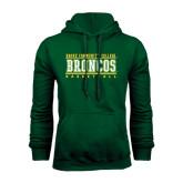 Dark Green Fleece Hood-Stacked Basketball Design