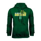Dark Green Fleece Hood-Soccer Swoosh