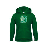 Youth Dark Green Fleece Hoodie-Bronoc