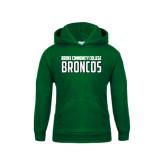 Youth Dark Green Fleece Hoodie-Bronx Community College Bronocs