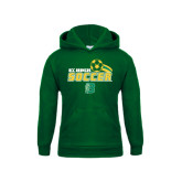 Youth Dark Green Fleece Hoodie-Soccer Swoosh