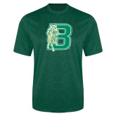 Performance Dark Green Heather Contender Tee-Bronoc