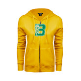 ENZA Ladies Gold Fleece Full Zip Hoodie-Bronoc
