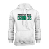 White Fleece Hoodie-Bronx Community College Bronocs