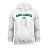 White Fleece Hoodie-Bronox Broncos
