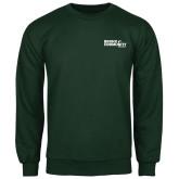 Dark Green Fleece Crew-Official Logo