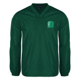 V Neck Dark Green Raglan Windshirt-Bronoc