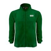 Fleece Full Zip Dark Green Jacket-Bronx Community College Bronocs