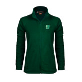 Ladies Fleece Full Zip Dark Green Jacket-Bronoc