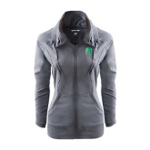 Ladies Sport Wick Stretch Full Zip Charcoal Jacket-Bronoc