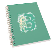 Clear 7 x 10 Spiral Journal Notebook-Bronoc