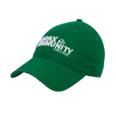 Kelly Green Twill Unstructured Low Profile Hat-Official Logo