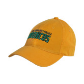 Gold Twill Unstructured Low Profile Hat-Bronx Community College Bronocs