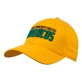 Gold Heavyweight Twill Pro Style Hat-Bronx Community College Bronocs