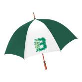 62 Inch Forest Green/White Umbrella-Bronoc