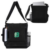 Impact Vertical Black Computer Messenger Bag-Bronoc