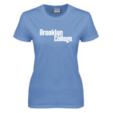 Ladies Arctic Blue T Shirt-Brooklyn College