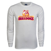 White Long Sleeve T Shirt-Brooklyn College Athletic Mark