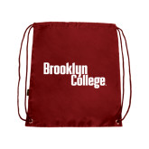 Cardinal Drawstring Backpack-Brooklyn College