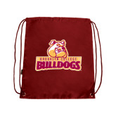 Cardinal Drawstring Backpack-Brooklyn College Athletic Mark