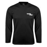 Performance Black Longsleeve Shirt-Brooklyn College